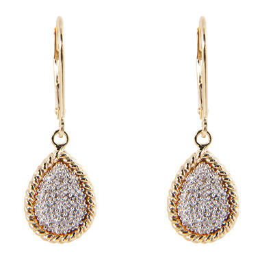0.10 ct. t.w. Round Diamond Pear-Shaped Earrings in 14k Yellow Gold (H-I, I1)