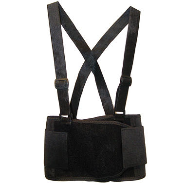 SAS Deluxe Back Support Belt - Black - Medium - 1 ct.