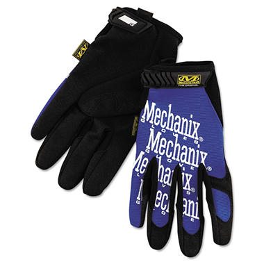 Mechanix Work Gloves, Blue/Black (X-Large)