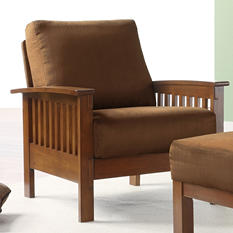 Calantha Microfiber Chair - Rust
