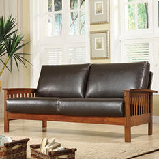 Calantha Faux Leather Sofa