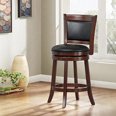 "Marion 24"" Swivel Stool Cushion Back (Choose a Color)"
