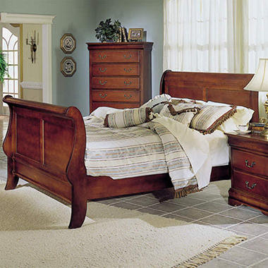 Louis Philippe King Size Sleigh Bed
