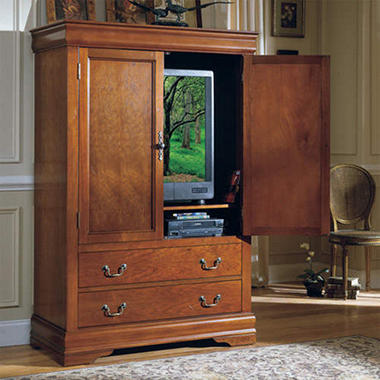 louis philippe tv armoire sam 39 s club. Black Bedroom Furniture Sets. Home Design Ideas