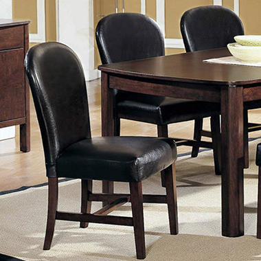 Dover Dark Brown Side Chair - 2 pk.