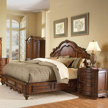 Aubrey Queen Low Profile Bed Set - 3 pc.