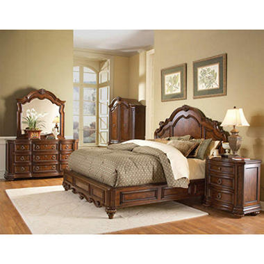 Aubrey Low Profile Bedroom Set - 5 pc.