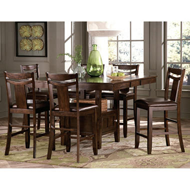 Marcey counter height table chairs 7 piece set sam 39 s club for 7 piece dining room set counter height