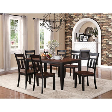 Caden Dining Table and 6 Chairs  5079BK-66[7PC]