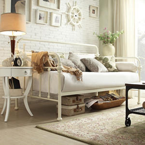 Sophia Curved Back Antique White Daybed