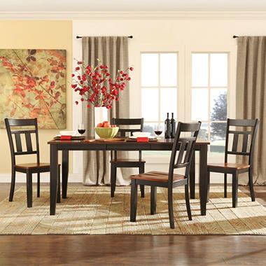 Caden Dining Table and 4 Chairs  5079BK-66[5PC]