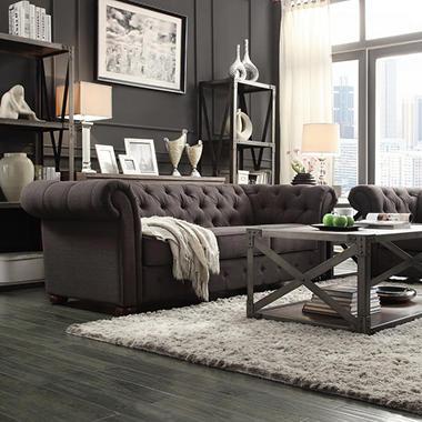 Kyle Tufted Linen Sofa Choose Color Sam 39 S Club