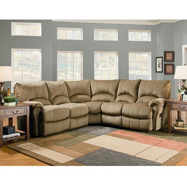 Lane Ashford Fabric Zero Gravity Reclining Sectional - 3 pc.