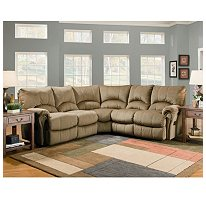 Lane Ashford Fabric Zero Gravity 3 Piece Reclining Sectional