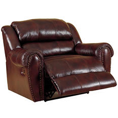 Lane Furniture Steve Top-Grain Leather Snuggler Power Recliner