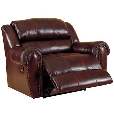 ... Furniture Steve Top-Grain Leather Snuggler Power Recliner - Sam's Club