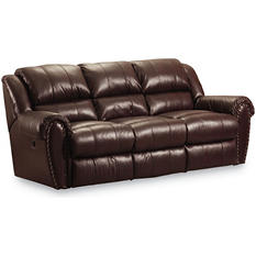 Lane Furniture Steve Double Reclining Top-Grain Leather Power Sofa