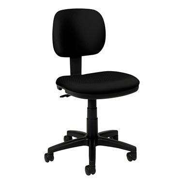 basyx by HON - VL610 Series Swivel Task Chair - Black Fabric/Black Frame
