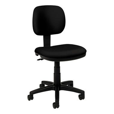 basyx by HON - VL610 Series Swivel Task Chair - Black Fabric/Black Frame