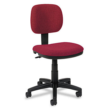 basyx by HON - VL610 Series Swivel Task Chair - Burgundy Fabric/Black Frame
