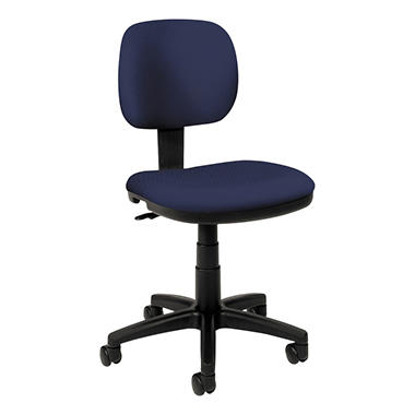 basyx by HON - VL610 Series Swivel Task Chair - Navy Fabric/Black Frame