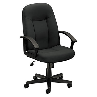 basyx by HON - VL601 Series Managerial Mid- Back Swivel/Tilt Chair - Charcoal Fabric/Black Frame