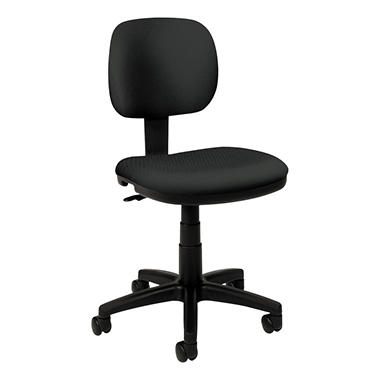 basyx by HON - VL610 Series Swivel Task Chair - Charcoal Fabric/Black Frame