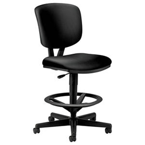 HON - Volt Series Adjustable Task Stool - Black Leather