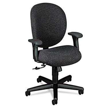 HON - Unanimous 24-Hour Task Series Mid-Back Swivel/Tilt Chair - Iron Gray Fabric