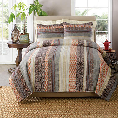Laura Hart Quilt Set - Queen - 3 pc. - Select a Style