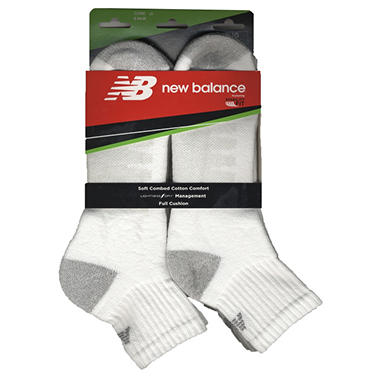 Men's New Balance Quarter Socks - 6pk White