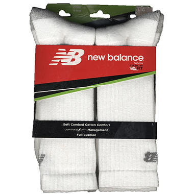 Men's New Balance Crew Socks - 6 pk. - White