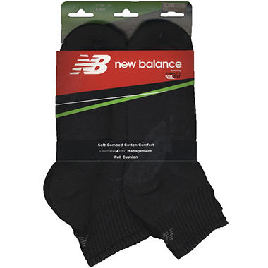 Men's New Balance Quarter Socks - 6 pk. - Black