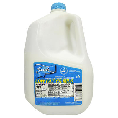 Sarah Farms 1%  Low Fat Milk (1 gal.)