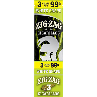 Zig Zag White Grape Cigarillo - 3 for $.99