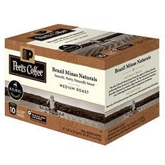 Peet's Coffee Brazil Minas Naturais, Medium Roast (60 K-Cups)