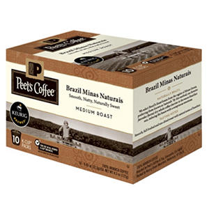 Peet's Coffee Brazil Minas Naturais, Medium Roast (60 K-Cups)