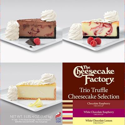 "The Cheesecake Factory Trio Truffle 9"" Cheesecake Selection (3.4 lbs.)"