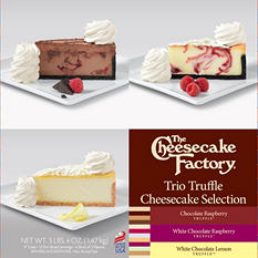 "The Cheesecake Factory Trio Truffle 9"" Cheesecake Selection (3.4 lbs.)"
