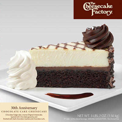 "The Cheesecake Factory 9"" 30th Anniversary Cheesecake (3 lb. 7 oz.)"