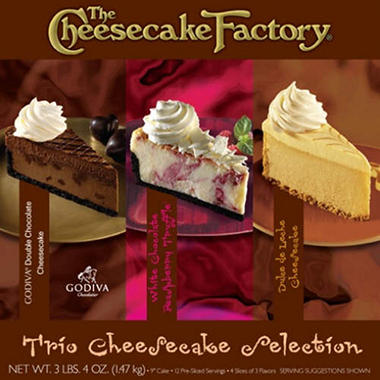 The Cheesecake Factory Trio Cheesecake Selection