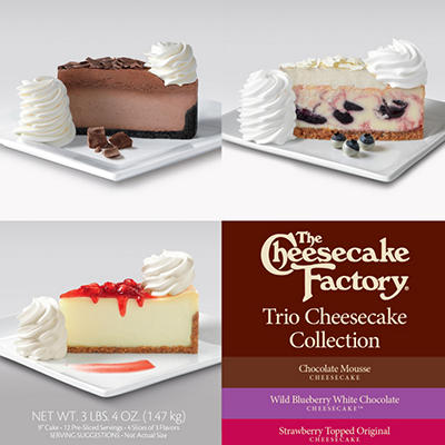 The Cheesecake Factory Trio Cheesecake Collection - 9""
