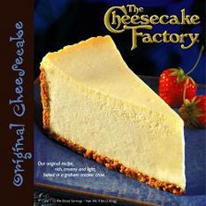 """Cheesecake Factory 9"""" Original Cheesecake"""