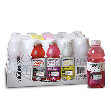 Glaceau VitaminWater® Zero Variety Pack - 15/20 oz.