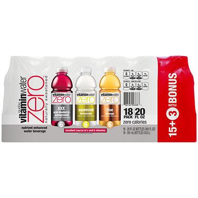 Glaceau Vitaminwater Zero - 20 oz. bottles - 18 pk.