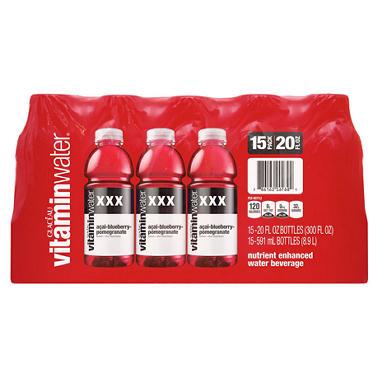 Glaceau Vitaminwater XXX - 20 oz. - 15 pk.