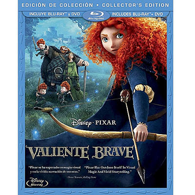 Brave (2-Disc Blu-ray + DVD) (Spanish Language Packaging)