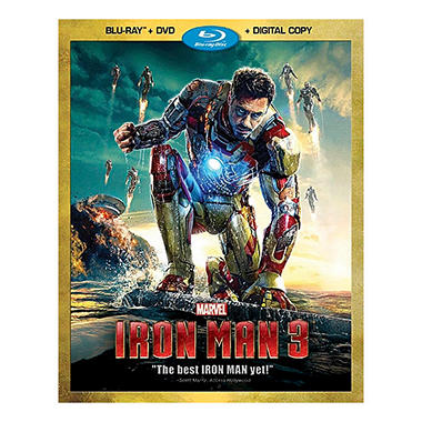 Iron Man 3 (Blu-ray + DVD + Digital Copy) (Widescreen)