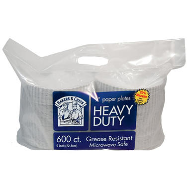 Bakers & Chefs Heavy Duty Paper Plates (600 ct.)