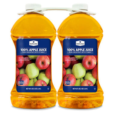 Member's Mark 100% Apple Juice (96 oz. bottles, 2 pk.)